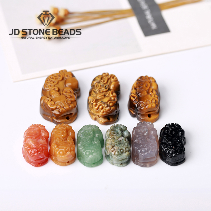 Natural Pixiu Brave Troops Agate Stone Beads Bangles & Bracelets Fashion Jewelry Lucky Energy Bracelet For Men Gift 2019 Making