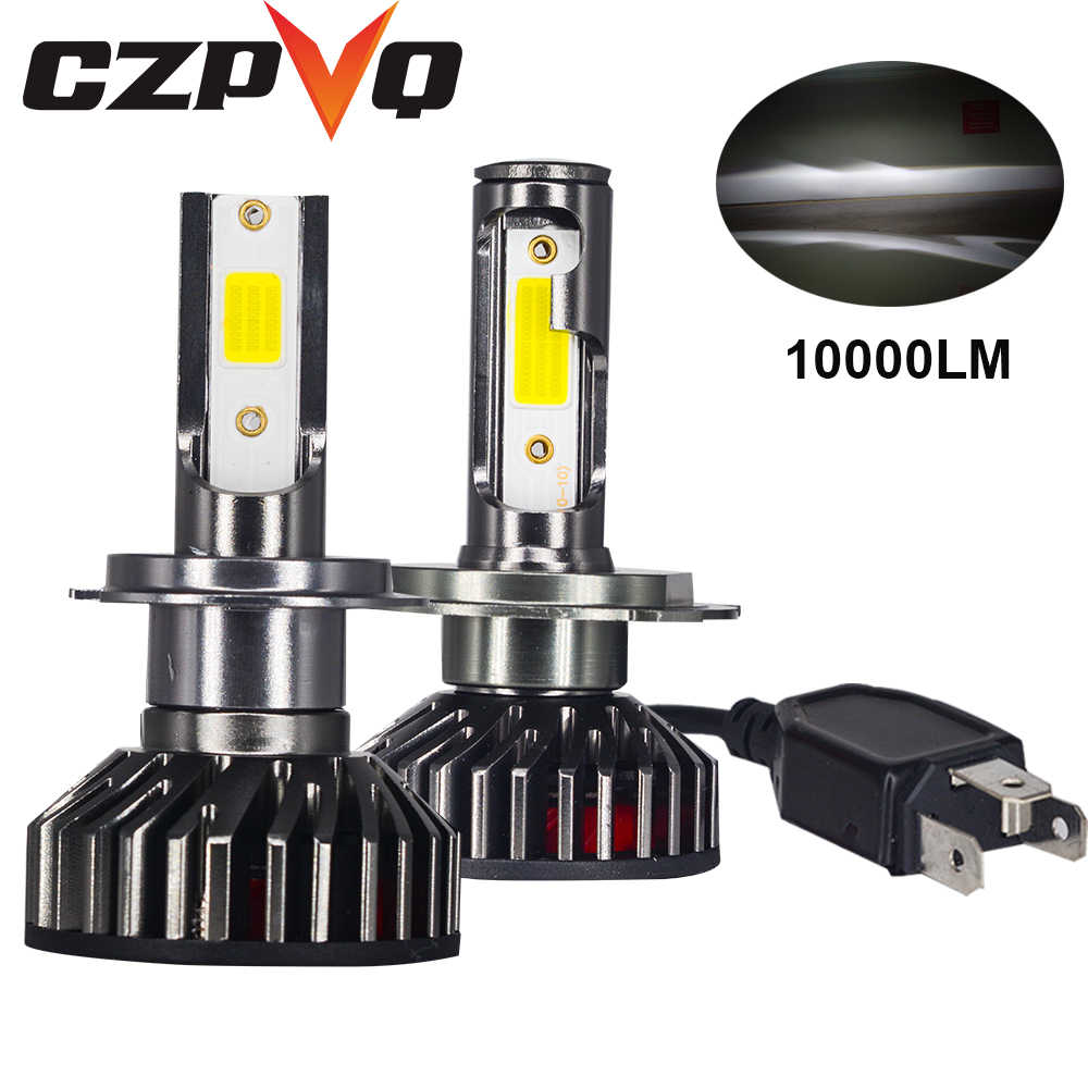 Uttril H1 H4 H7 Car Headlight 3000K 4300K 5000K 6500K 8000K 25000K COB Mini LED Bulb 80W 10000LM Auto Fog Light LED Lamp 12V