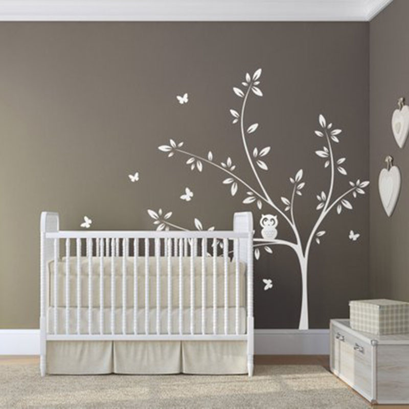 Wall Sticker Tree Plant for Living Room Background Vinyl ...