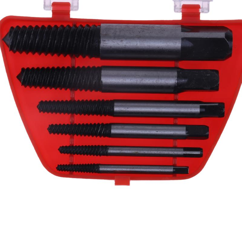 купить 6pcs/set Screw Extractors Damaged Rusted Stripped Broken Screws Removal Tool Used in Removing the Damaged Bolts Drill Bits недорого