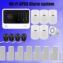 Wireless GSM alarm system home Security Burglar touch keypad ,Voice,iso&android app with smart socket for smart security home