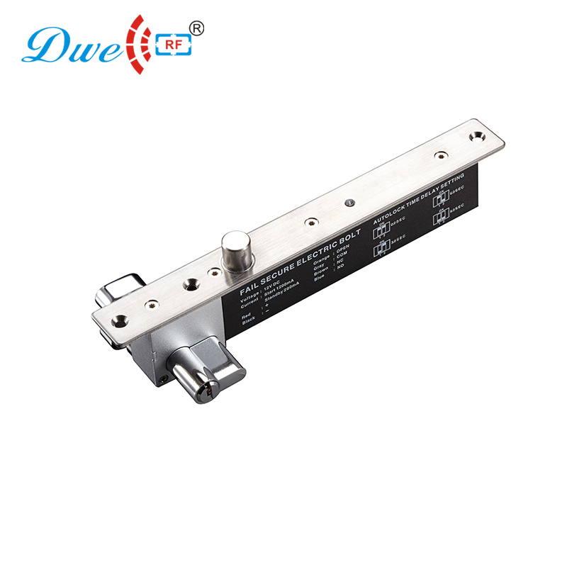 DWE CC RF access control door lock 2000kg holding force sturdiness narrow door electric bolt with cylinder                      DWE CC RF access control door lock 2000kg holding force sturdiness narrow door electric bolt with cylinder