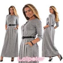 5XL 6XL Robe 2018 Autumn Winter Dress Big Size Elegant Long Sleeve Maxi Women Office Work Dresses Plus Clothing