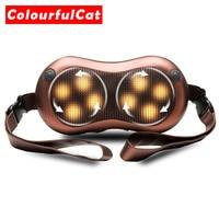 Cellulite Electrical Shiatsu Back Neck Shoulder Massager Body Spa Infrared heating 4D kneading Massagem Home Car Masaje