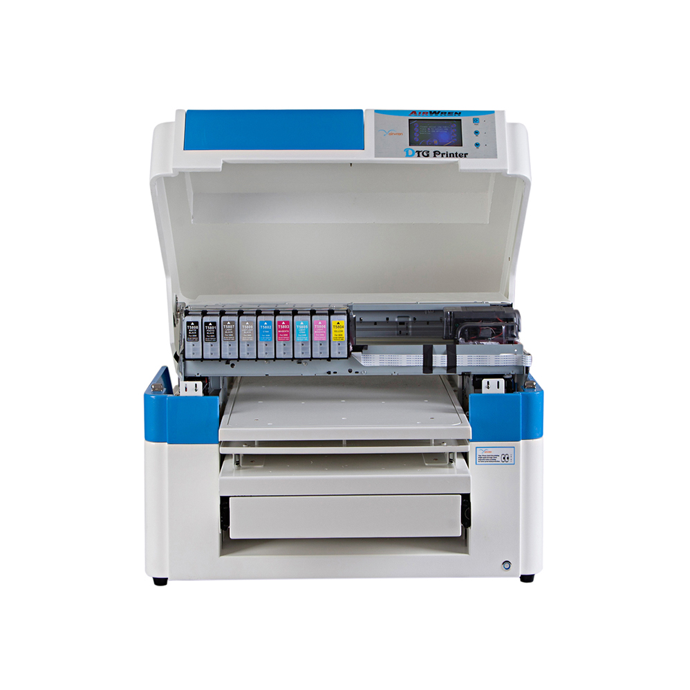 Airwren Printer Large Wide Format Dtg Printer Water Textile Pigments: CMYK+4Whites Logo For Industrial Production