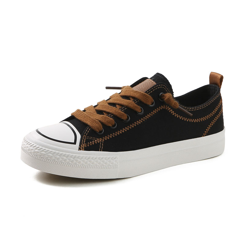 Toile Black Line Green Chaussures Mode Taille 35 40 Line Nouvelles Femme white Tissu And Printemps Sneakers Solide Adulte Femmes black Feminino Brown Couture 2018 fgbvY76y