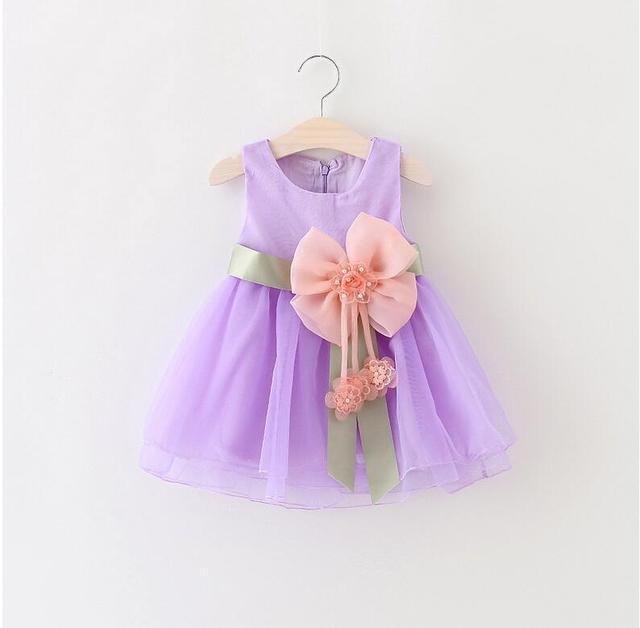 Neue Prinzessin Blume Mädchen Kleider Rosa Großen Bogen Baby Party ...