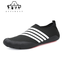 AFFINEST Water Shoes For Man Quick Drying Five Finger Swimming Black  barefoot shoes Summer Seaside Surfing 4b0845dee79b