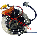 YBR CG GN GS es JOG 100CC GY6 125 150 FUERZA Freno de Tambor Trasero Scooter Universal Modificado Para Conjunto de Freno de Disco de La Motocicleta