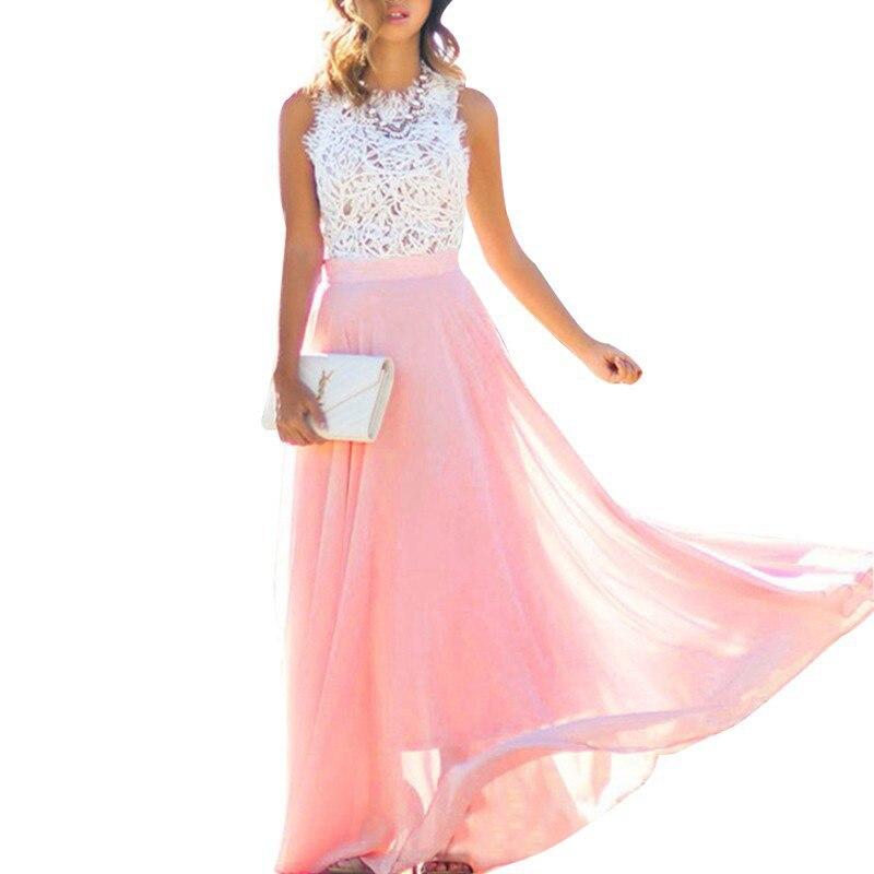 CTFZ00092 Venta caliente 2017 mujeres vestido elegante sexy vestido de gasa vestido largo Dropship