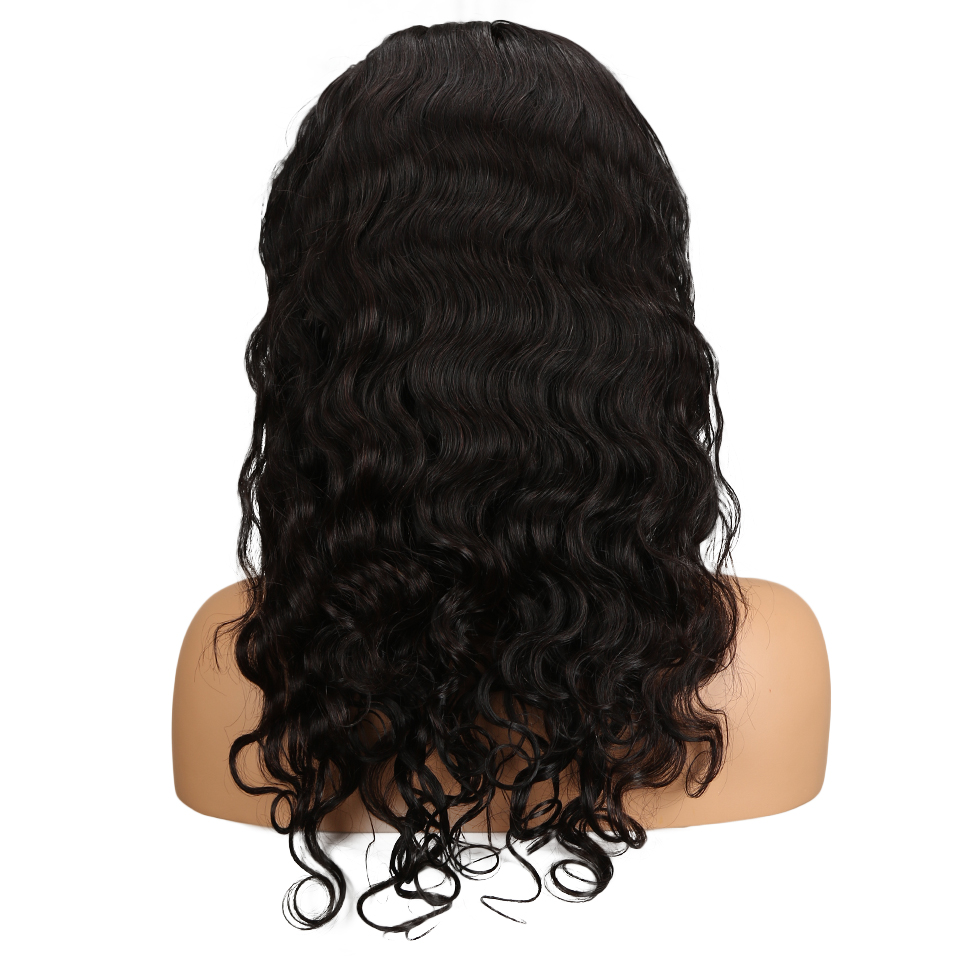 Sleek Peruvian Remy Long Body Wave Human Hair 360 Frontal Wig For Women Natural Black Fashion Lace Wigs 10-24 Free Shipping