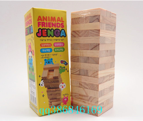 US $14 99 |Jenga Wood Stacked Bricks 48 Bricks Table Game Kids toys-in  Blocks from Toys & Hobbies on Aliexpress com | Alibaba Group