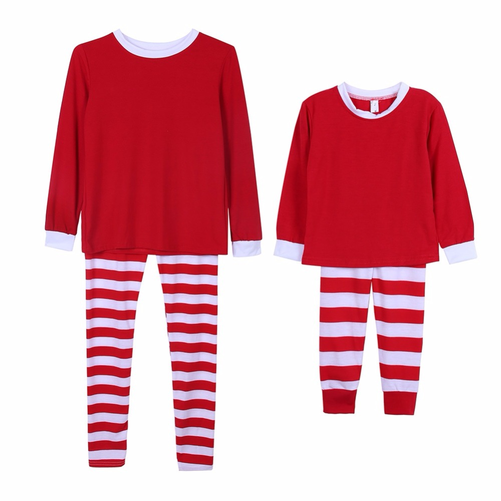 Lovely Christmas Family Matching Pajamas Set Adult Men Women Kids Sleepwear Nightwear 2017 New arrival