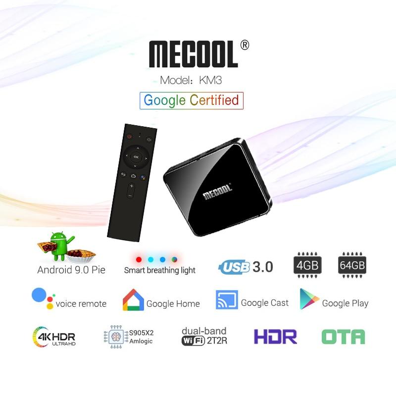 MECOOL KM3 ATV Androidtv 9 0 Smart Box 4G 64G Streaming 4K Androidtv TVBox Amlogic S905X2
