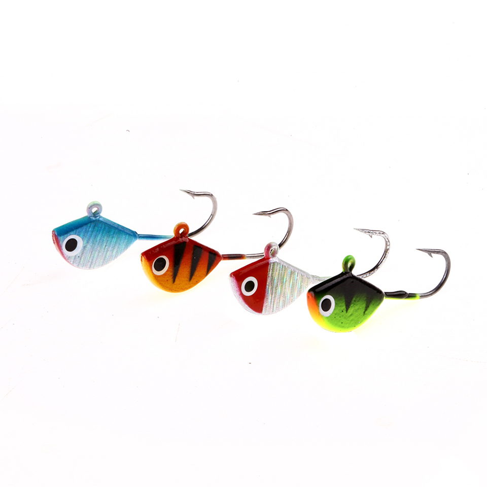 4PCS/Lot Winter Fishing Lure Ice Fishing Jig Bait 2.5cm 2.3g Mini Metal Fish Lead Head Hook Bait Fishing Tackle wireless service calling system paging system for hospital welfare center 1 table button and 1 pc of wrist watch receiver