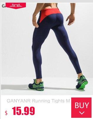 GANYANR Marca Mallas Hombres Compresión Skins Fitness Entrenamiento  Crossfit Gimnasio Legging Deportes Jogging pantalones Largos Yoga Atlético  Pantalones be8ed7011e01