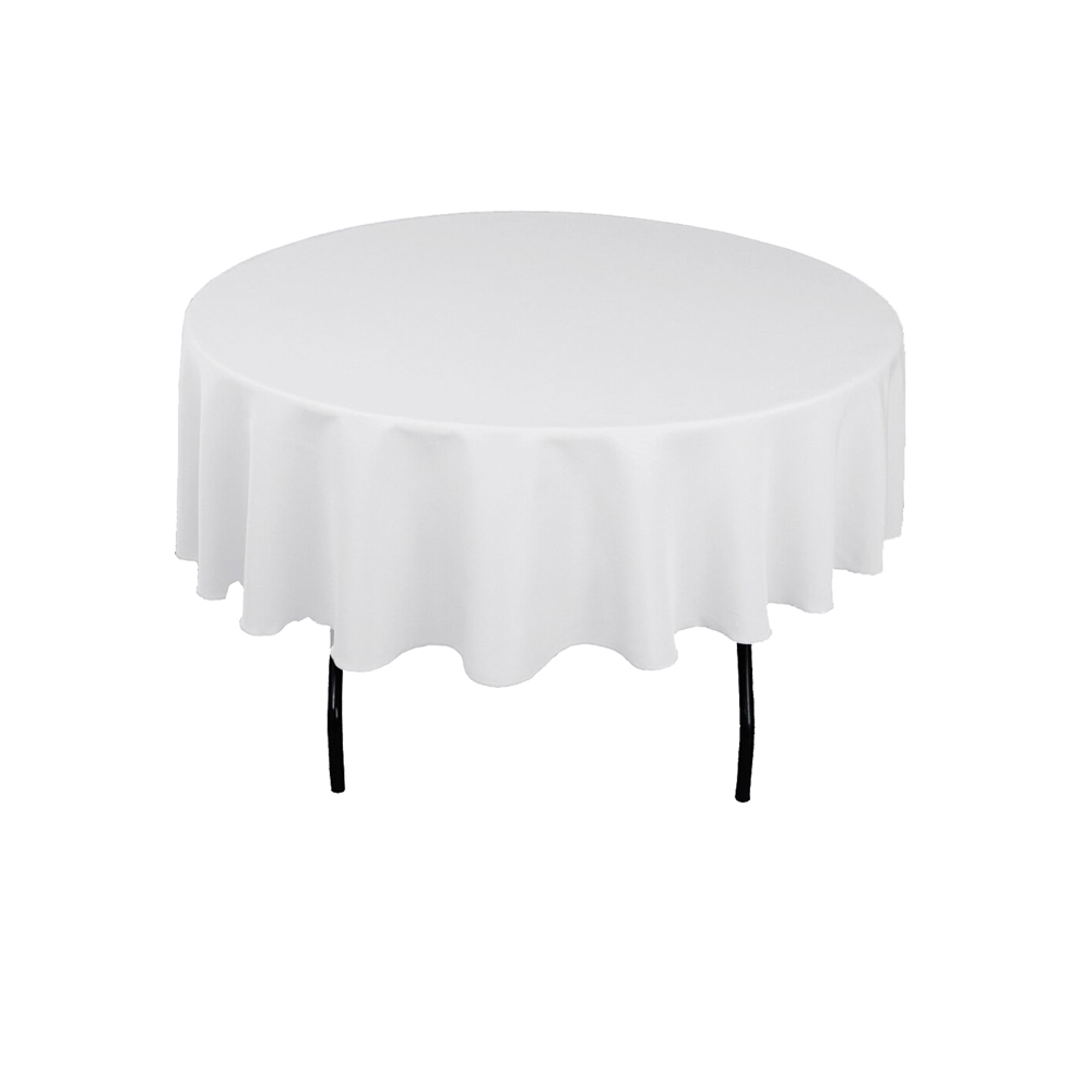 100% Double Stitched Polyester Round Tablecloth Dining Table Cloth For Hotel Office Wedding Home Decoration In Solid Colors-in Tablecloths from Home & Garden    2