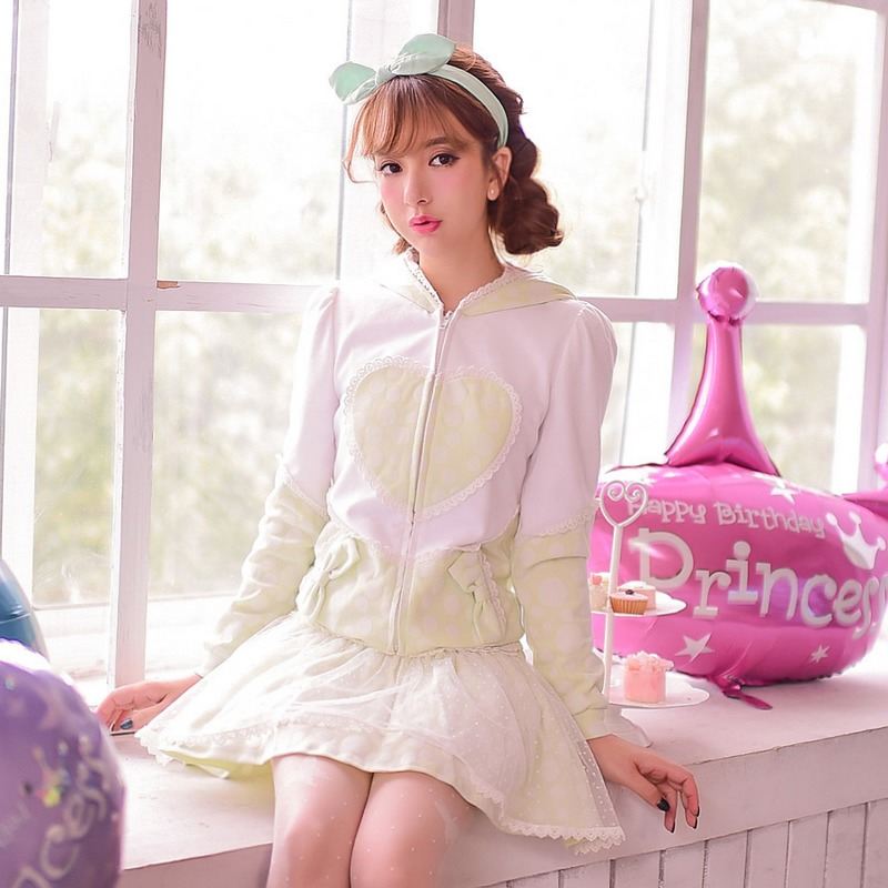 Women's Clothing Qualified Princess Sweet Lolita Coat Candy Rain Autumn Japanese Style Love Heart Zipper Cardigan Bow Zipper Lace Cape Hat Coat C15cd5849 Fragrant Aroma
