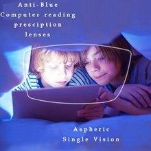 عدسات نظارات طبية مضادة للأشعة الزرقاء موديل 1.67 مكونة من عدد 1 زوجًا من عدسات Rx able مجموعة مجانية بإطار نظارة