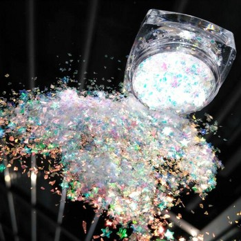 Hot 1 Box Irregular AB Nail Sequins Mixed Snow Glitter Flakies Paillette Manicure Decorations 5g