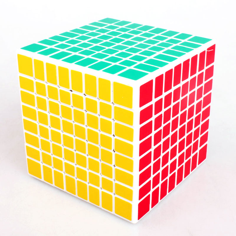 Original Shengshou 8x8x8 Puzzle Magic Cube Square Smooth Twist Cubo Magico 8x8 Adult Speed Sticker Cube IQ Intelligence Toys dayan gem vi cube speed puzzle magic cubes educational game toys gift for children kids grownups