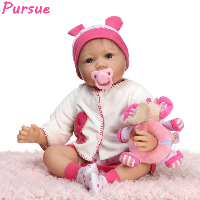 Pursue baby alive doll reborn babies toys for children american girl silicone...