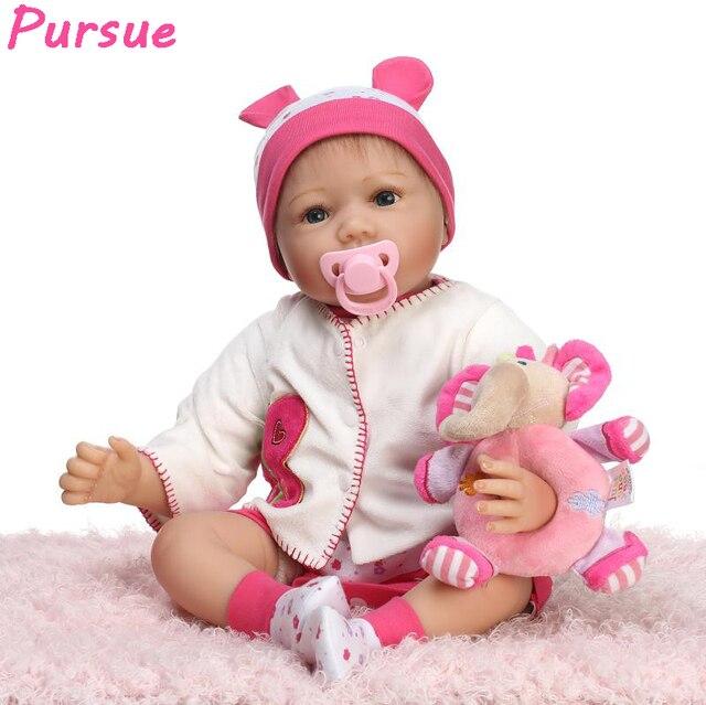 6e77f8da9f Pursue Baby Alive Doll Reborn Babies Toys for Children American Girl  Silicone Reborn Baby Dolls bebe reborn menina de silicone