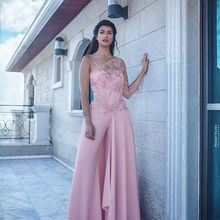 NOBLE BRIDE 2019 One Shoulder Applique Jumpsuits Pants