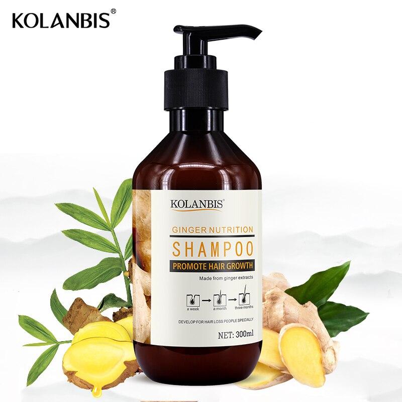 hair care organic herbal natural ginger hair growth shampoo for anti dandruff hair loss cleansing oil men oily hair treatment
