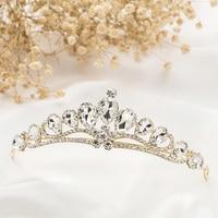 Wedding Bridal Tiara Princess Crown Crystal Rhinestone Crown Tiara Headband Wedding Hair Accessories Vintage Bridal Gold