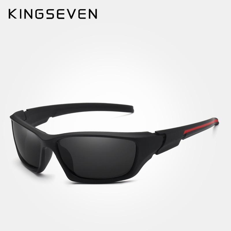 KINGSEVEN Brand 2018 Mäns polariserade solglasögon TR90 Frame Night - Kläder tillbehör - Foto 1