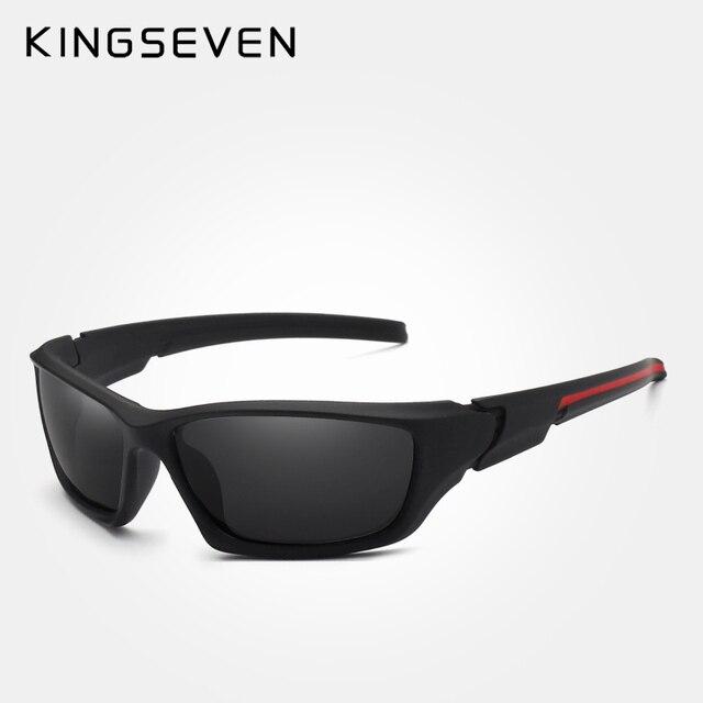 28c08b92a0beb TR90 KINGSEVEN Marca 2019 Dos Homens Óculos Polarizados Espelho Óculos de Visão  Noturna Quadro Homens óculos