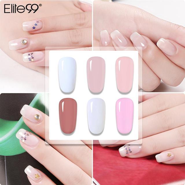 Elite99 Nagel Builder UV Gel Transparent Klar Camouflage Farbe Fibre Glas Fest Jelly Schnelle Erweiterung Nagel Kunst Acryl Poly Gel