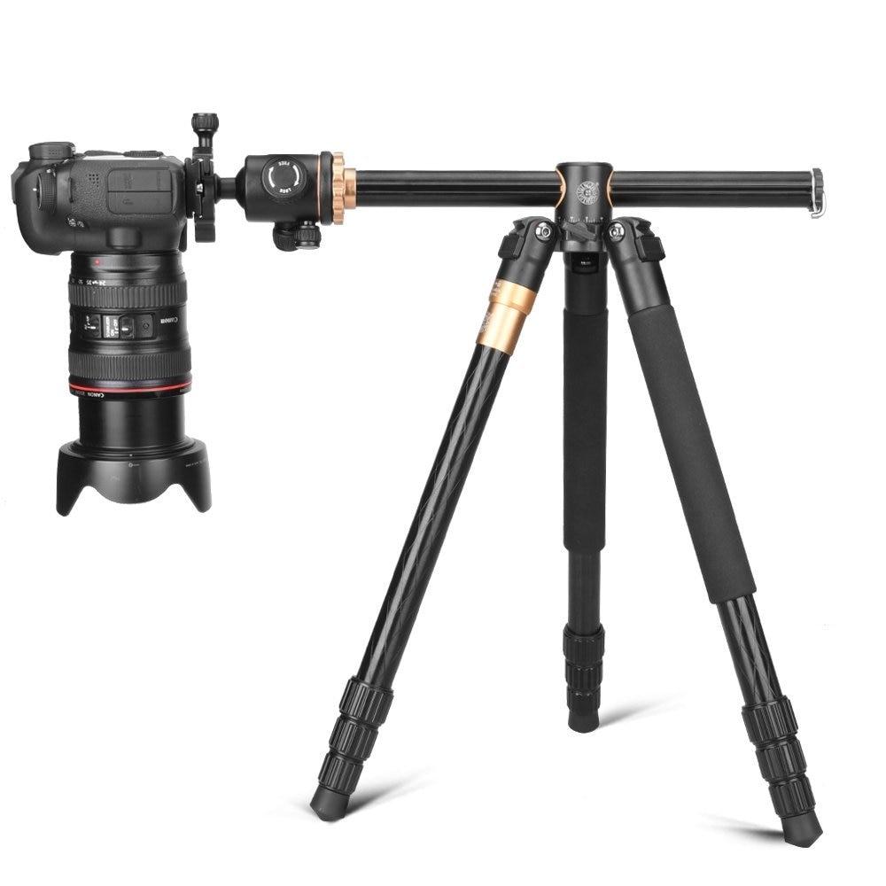 Cadiso Q999H cámara de vídeo profesional trípode 61 pulgadas portátil de viaje compacto Horizontal trípode con cabeza de bola para cámara - 5