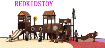 Wooden Pirate Ship | CE Approved Anticorrosive Pirate Ship Themed Children Wooden Outdoor Playground 2018HZ-M002