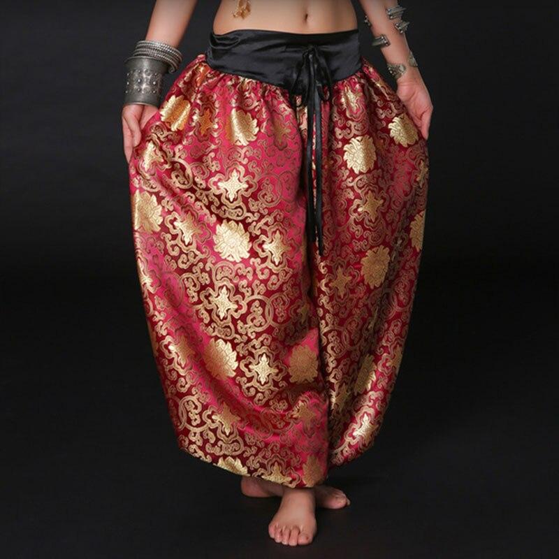 Unisex Brocade ATS Tribal Dance Harem Pant Bellydance Lantern Pants Bloomers Belly Dance Costume Oriental Bloomers Tribal Pants