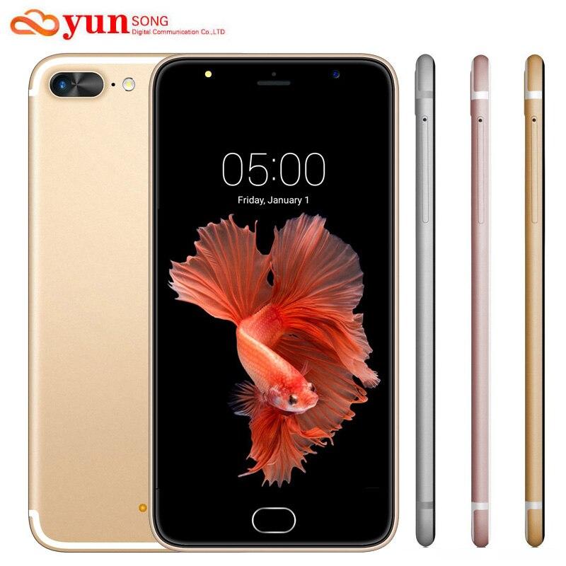 2017 New A7 Plus Mobile Phone 5 5 inch 13MP camera Smartphone MTK6580 Quad Core telephone