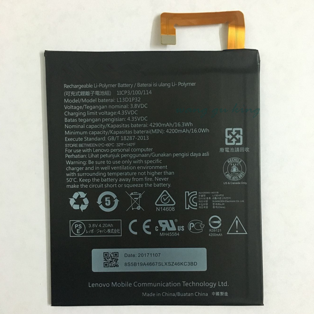 Cellphones & Telecommunications Expressive 3.8v 4290mah L13d1p32 For Lenovo Lepad A8-50 A5500 Tab S8-50 Battery
