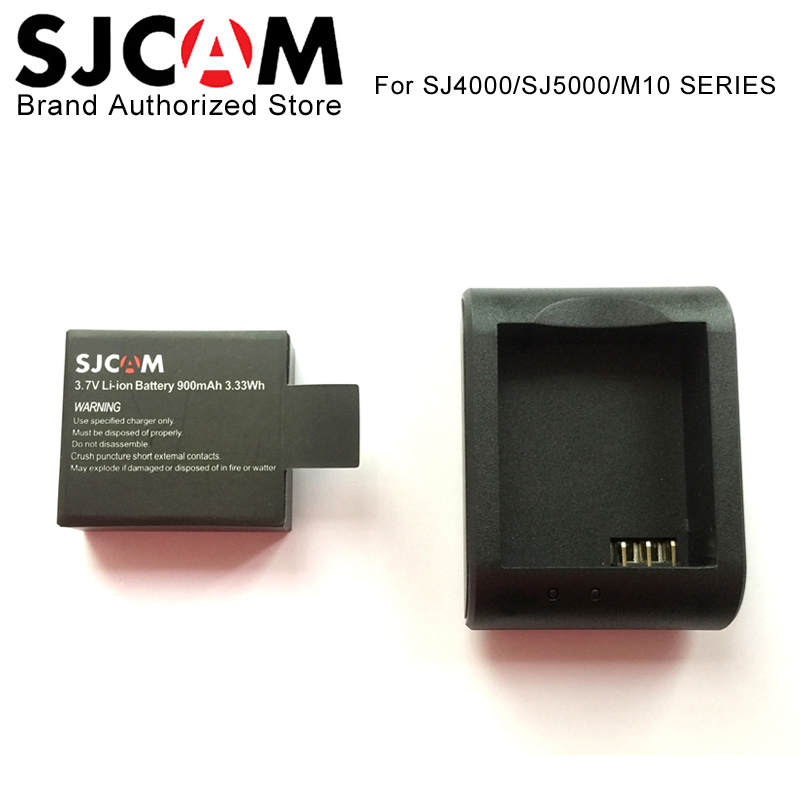 SJCAM Brand Accessories Battery and Battery Desktop Charger For SJ CAM SJ4000 SJ5000 sj5000x elite M10 wifi Action Sport Camera