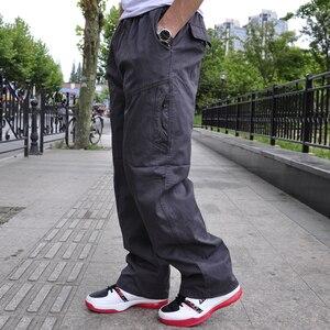 Image 3 - סתיו וחורף חדש מקרית גברים של מכנסיים באיכות גבוהה אופנה רב כיס כותנה סרבל בתוספת שומן גדול גודל 6XL מכנסיים