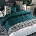 Элегантный комплект постельного белья в американском стиле  пододеяльник  комплект 2 или 3 шт./компл.  зеленое постельное белье AU  EU  Двухслой...