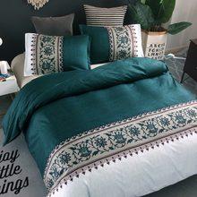 Estilo americano cama elegancia duvet cover set 2 o 3 unids/set verde ropa de cama es de la UE ropa de cama doble funda de almohada 200*200