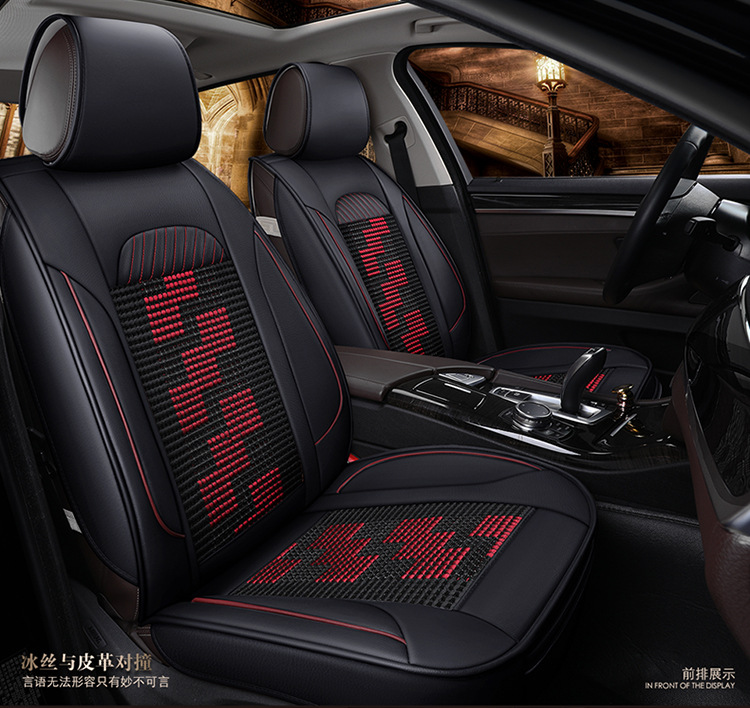 automotive customize car seat covers leather cushion set for Cadillac CTS CT6 SRX DeVille Escalade SLS ATS-L/XTS free shipping