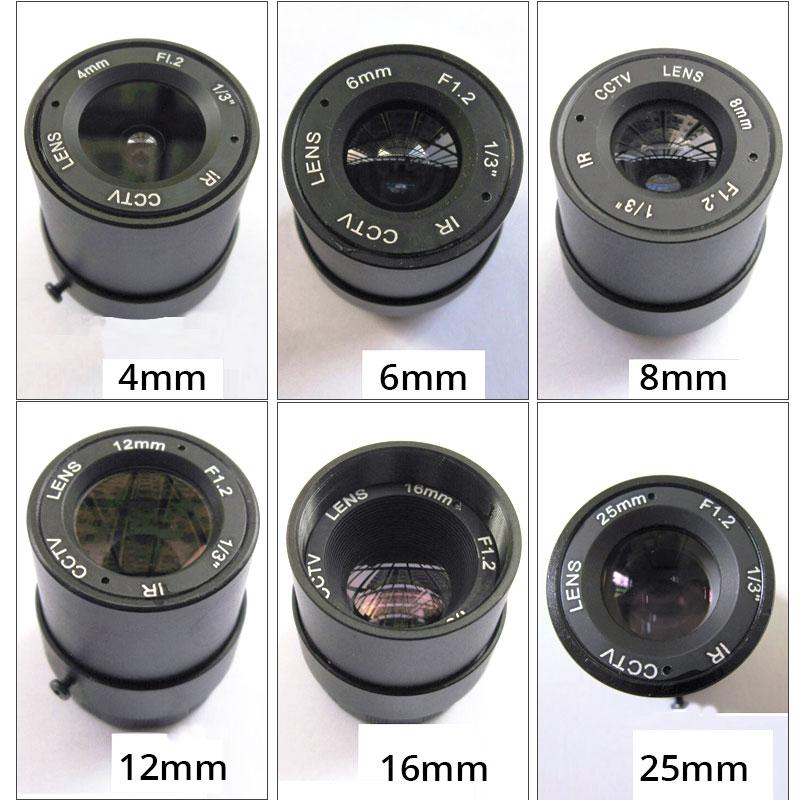 Car Night Vision DIY Camera Lens F1.2 Metal IR CS CCTV Lens 6mm 8mm16mm 25mm