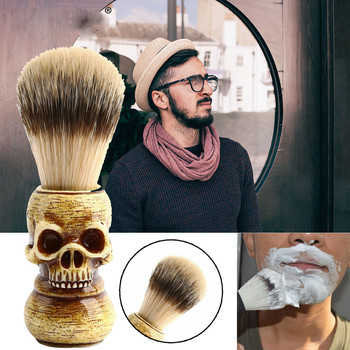 2019 Men's Care Skull Beard Brush Men Beard Brushes Men Shaving Brush Best Horsehair Shave Wood Handle Razor Barber Tool Beauty Beauty Tools