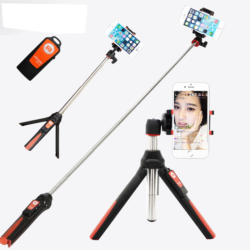 wireless 3 in 1 mini tripod handheld monopod phone selfie stick with bluetooth remote shutter. Black Bedroom Furniture Sets. Home Design Ideas