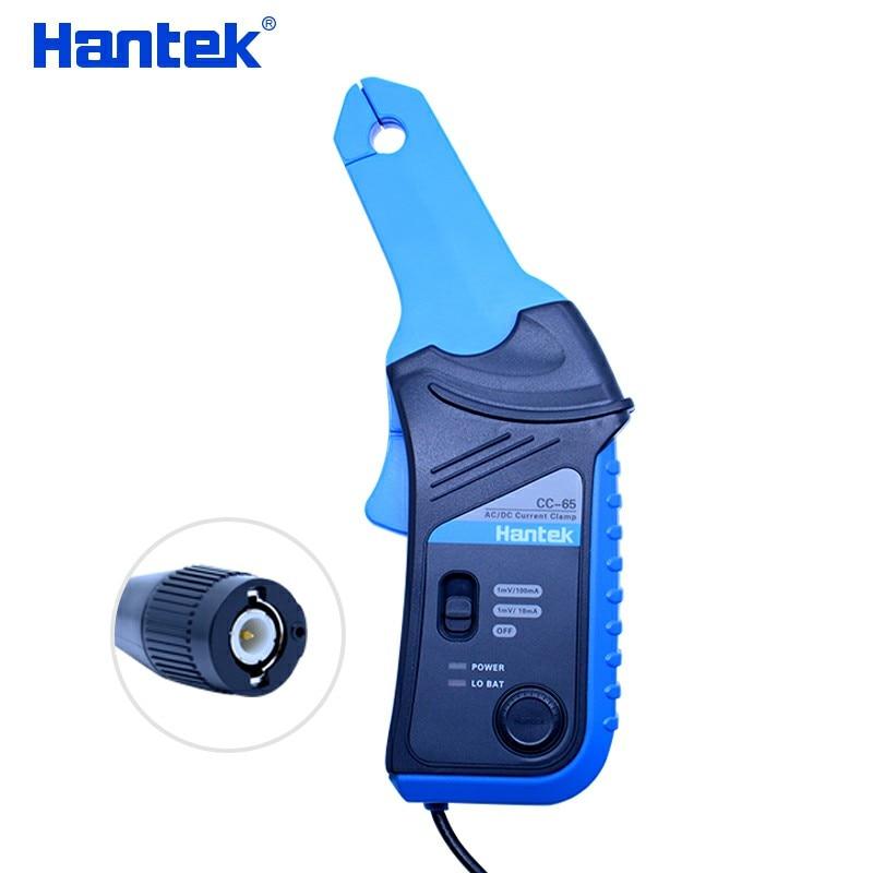Hantek AC/DC Current Clamp current probe current sensor with BNC plug CC-65 20kHz Bandwidth 1mV/10mA 20 mA ~65A цена