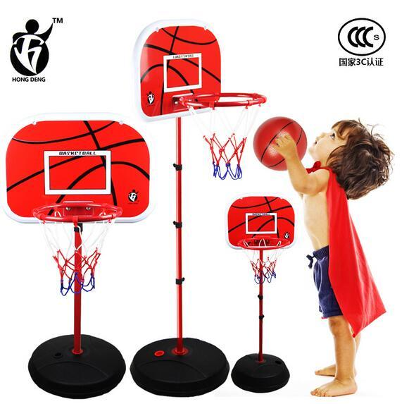 150cm Indoor and outdoor sports iron basketball frame shooting frame child can lift baby Large basketball rack toy