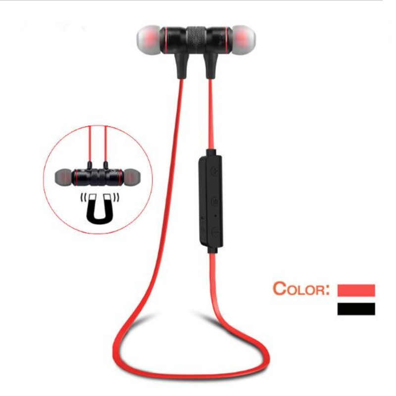 HongmengM9 Bluetooth Headset Magnetic Metal Motion Stereo Subwoofer for Apple Samsung Huawei xiaomi LG with Bluetooth Capability