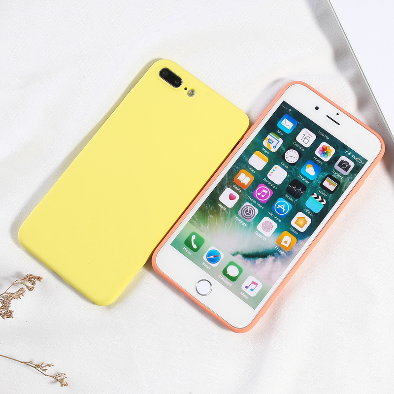 Image 2 - Luxury Candy Color Phone Cover For iPhone 7 8 Plus Case Simple Soft TPU Silicone Back Covers For iPhone 6 6s 7 8 X XS XR XS Max-in Fitted Cases from Cellphones & Telecommunications